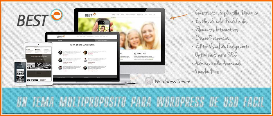 Un tema multiproposito para wordpress